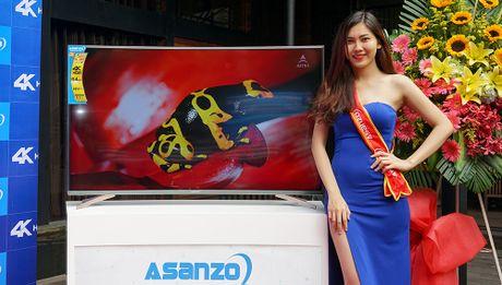 Asanzo ra mat TV 4K man hinh cong gia tu 22 trieu dong - Anh 1