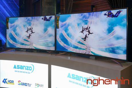 Asanzo ra mat TV 4K man hinh cong gia tu 22 trieu dong - Anh 4