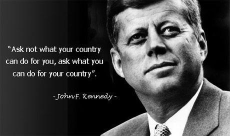 Hoc tieng Anh qua nhung cau noi bat hu cua John F. Kennedy - Anh 1