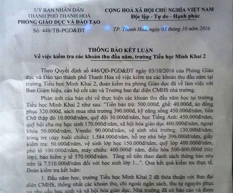 Chu tich TP Thanh Hoa chi dao tra lai tien thu sai quy dinh - Anh 1