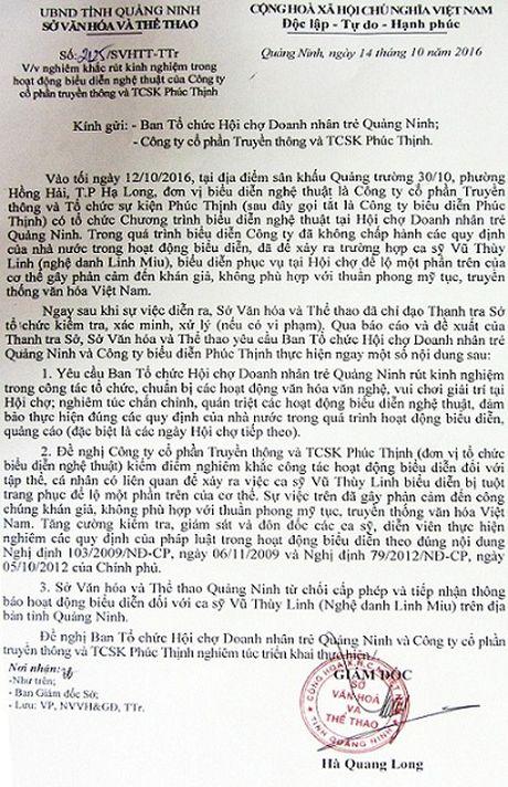 Linh Miu 'lo hang': BTC hoi cho doanh nhan tre Quang Ninh noi gi? - Anh 3
