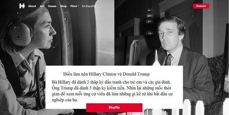 Nhung buc anh chan dong ve su khac biet giua ba Clinton va ong Trump - Anh 1