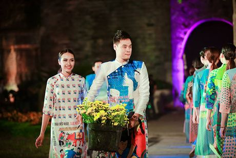 Nhung bo tac pham tuyet dep cua Hoa hau Ngoc Han trong Festival Ao dai - Anh 11