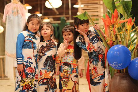Nhung bo tac pham tuyet dep cua Hoa hau Ngoc Han trong Festival Ao dai - Anh 5