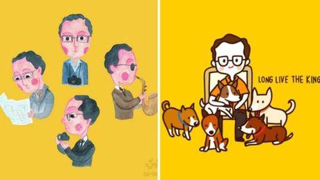 Mang xa hoi Thai dong loat tuong niem quoc vuong Bhumibol - Anh 8