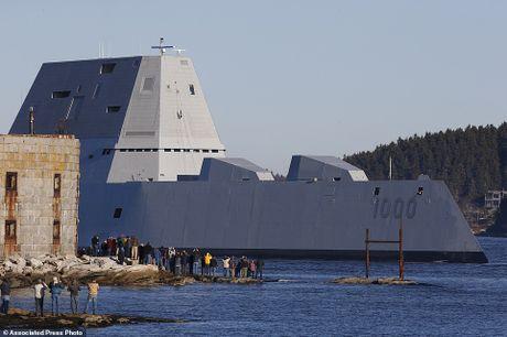 Can canh 'chien ham sieu tuong' USS Zumwalt vua gia nhap Hai quan My - Anh 13