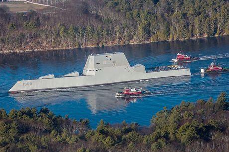 Can canh 'chien ham sieu tuong' USS Zumwalt vua gia nhap Hai quan My - Anh 3