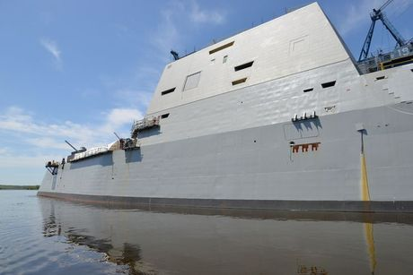 Can canh 'chien ham sieu tuong' USS Zumwalt vua gia nhap Hai quan My - Anh 6