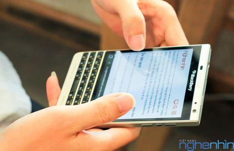 Blackberry Passport chinh hang dua ha gia voi hang xach tay - Anh 1