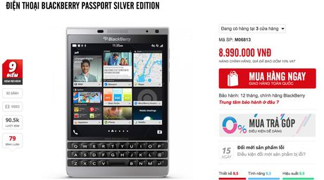 Blackberry Passport chinh hang dua ha gia voi hang xach tay - Anh 2