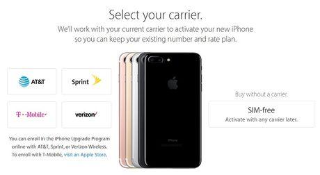 Apple mo ban iPhone 7 khong khoa mang tai My - Anh 1