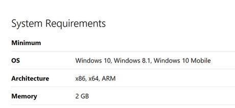 Facebook va Messenger cho Windows 10 Mobile can toi 2GB RAM - Anh 1