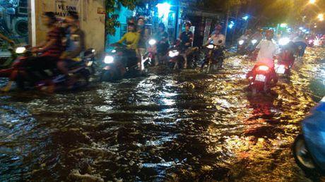 TP Ho Chi Minh lai ngap nang do trieu cuong va mua lon - Anh 5