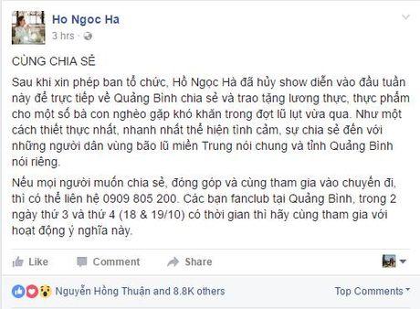 Ho Ngoc Ha huy show vi dong bao mien Trung - Anh 1