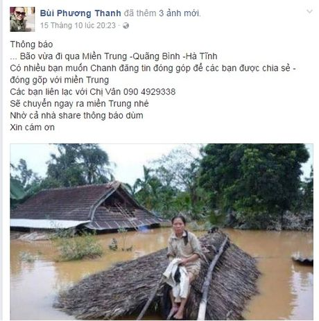 Sao Viet keu goi fan chung tay ung ho mien Trung - Anh 3