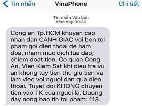 Goi dien gia cong an lua 1 nguoi dan chuyen khoan 6 ty dong - Anh 1