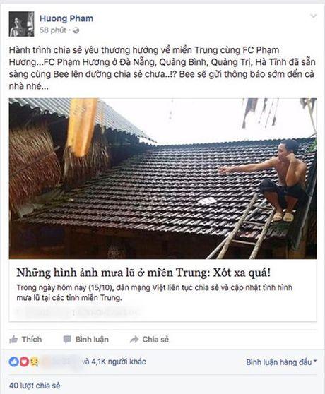 Sao Viet keu goi chung tay giup do dong bao mien Trung bi lu lut - Anh 2