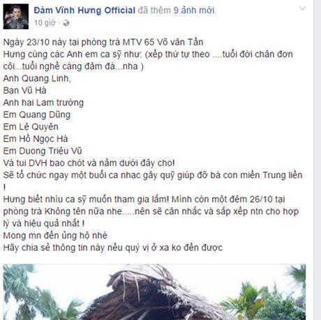 Sao Viet keu goi chung tay giup do dong bao mien Trung bi lu lut - Anh 4