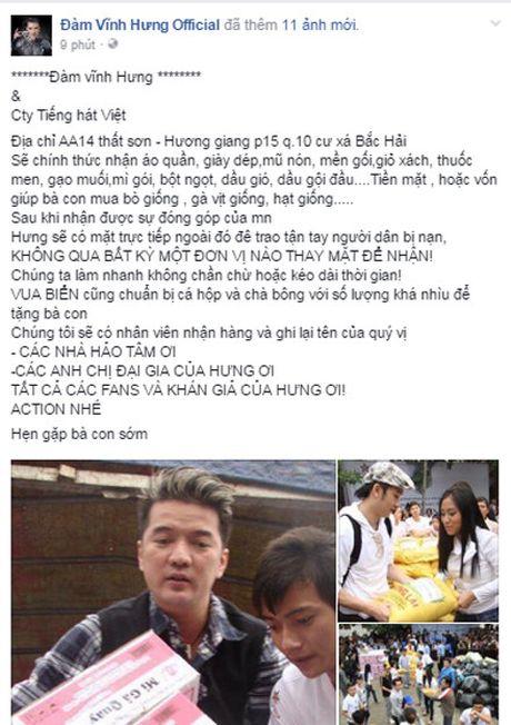 Sao Viet keu goi chung tay giup do dong bao mien Trung bi lu lut - Anh 5
