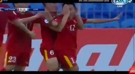 Truc tiep U.19 VN - U.19 UAE 1-0: Ho Minh Di ghi ban - Anh 1