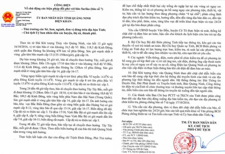Quang Ninh ban hanh cong dien khan chi dao phong chong bao Sakira - Anh 1