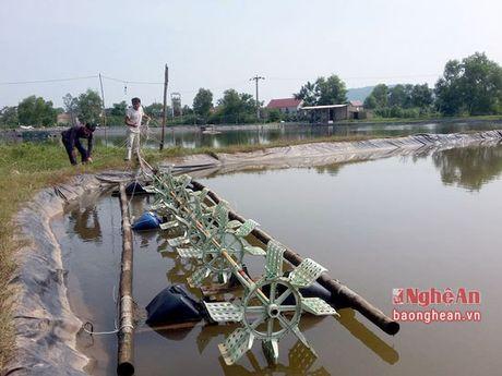 Xu ly ao dam vung nuoi thuy san sau mua lu - Anh 2