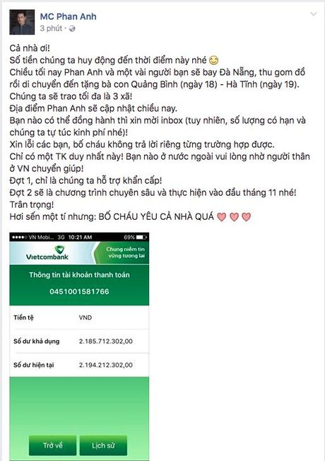 Mien Trung oi! Sao Viet da san sang mang tat ca yeu thuong den voi moi nguoi - Anh 1