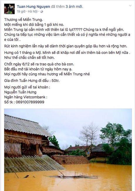 Mien Trung oi! Sao Viet da san sang mang tat ca yeu thuong den voi moi nguoi - Anh 5