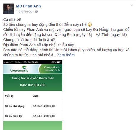 MC Phan Anh keu goi duoc hon 2 ty giup do nguoi dan mien Trung bi lu lut - Anh 4