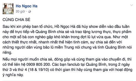 Cac sao Viet chung tay giup do dong bao mien Trung - Anh 2