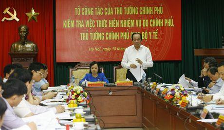 To cong tac cua Thu tuong kiem tra Bo Y te - Anh 1