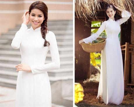 Pham Huong mac ao dai trang thua xa Ngoc Trinh - Anh 5
