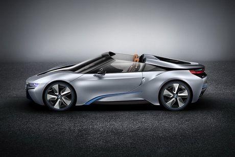 Sieu xe 'xanh' BMW i8 se co ban mui tran Roadster - Anh 2