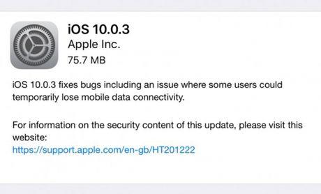 Apple tung ban cap nhat va loi mat song tren iPhone 7 - Anh 1