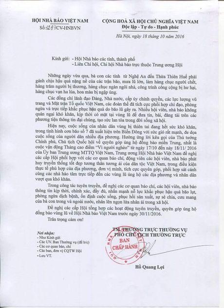 Hoi Nha bao Viet Nam keu goi ung ho dong bao mien Trung - Anh 2