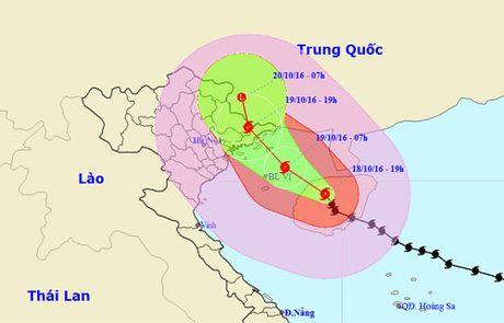 Bao chech len phia bac, do bo Quang Ninh - Lang Son - Anh 1