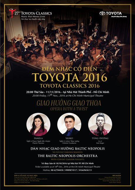 Tung Duong se hat tai dem nhac co dien Toytota 2016 - Anh 3