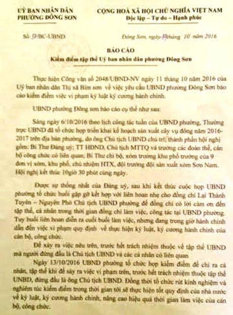 Vu ca UBND phuong di lien hoan gio hanh chinh: Kiem diem, rut kinh nghiem! - Anh 1