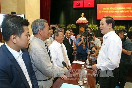 Chu tich nuoc Tran Dai Quang: Doanh nhan TP.HCM phai luon tien phong - Anh 1