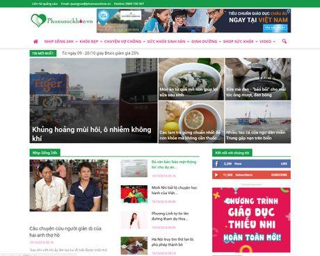 Bao Dien tu Gia dinh Viet Nam ra mat chuyen trang Phu Nu Suc Khoe - Anh 2