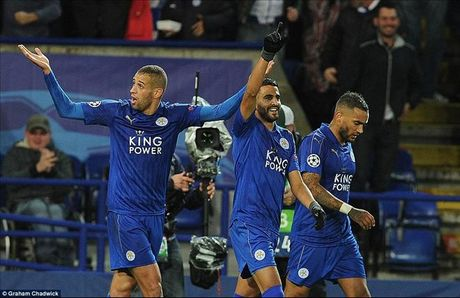 Leicester City 1-0 Kobenhavn: Riyad Mahrez viet lich su cho Bay cao - Anh 1
