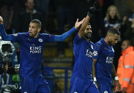 Mahrez no sung, Leicester thang tran thu 3 lien tiep o Champions League - Anh 1