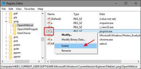 Bo bot chuong trinh thuoc trinh don 'Open With' trong Windows - Anh 4