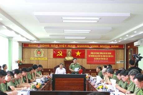 Thu truong Bui Van Thanh lam viec tai Cong an tinh Dak Lak - Anh 1