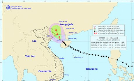 13 gio chieu nay, tam bao so 7 nam tren dia ban Mong Cai (Quang Ninh) - Anh 1
