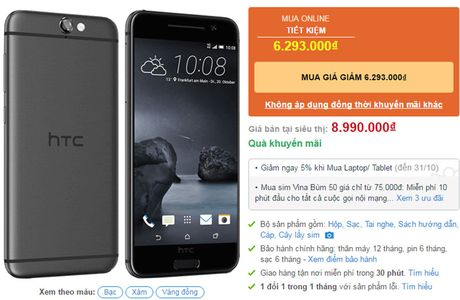 HTC One A9 giam gia soc - Anh 2