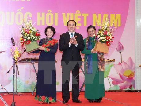 Ba Tong Thi Phong la Chu tich Nhom nu dai bieu Quoc hoi khoa XIV - Anh 1