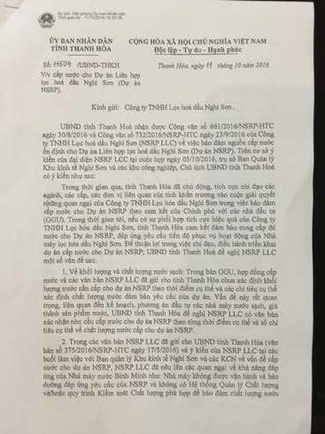Du an nha may nuoc ho Que Son': UBND tinh Thanh Hoa lai ban hanh cong van 'ky quac'! - Anh 1