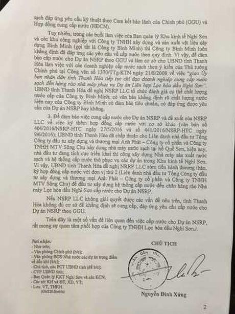 Du an nha may nuoc ho Que Son': UBND tinh Thanh Hoa lai ban hanh cong van 'ky quac'! - Anh 2