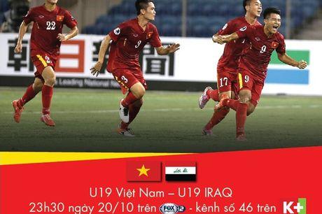 Hom nay (20/10), K+ binh luan truc tiep tran U19 Viet Nam – U19 Iraq - Anh 1
